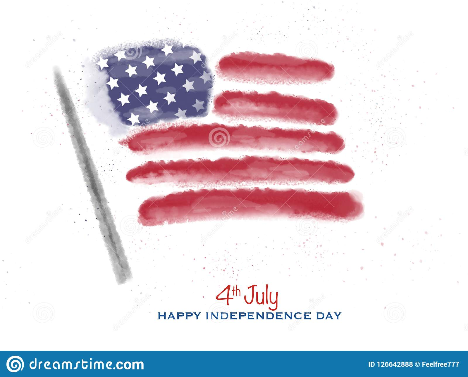 4th July Independence Day Usa Super Quality Abstract Business