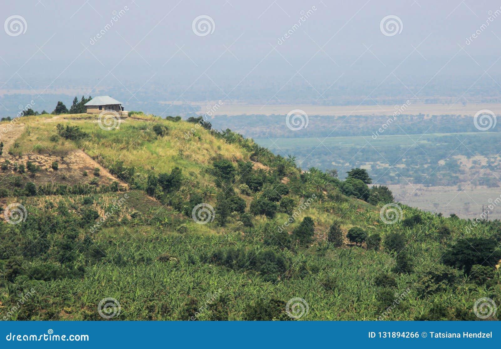 Great Rift Valley In Uganda Africa Landscare Stock Photo