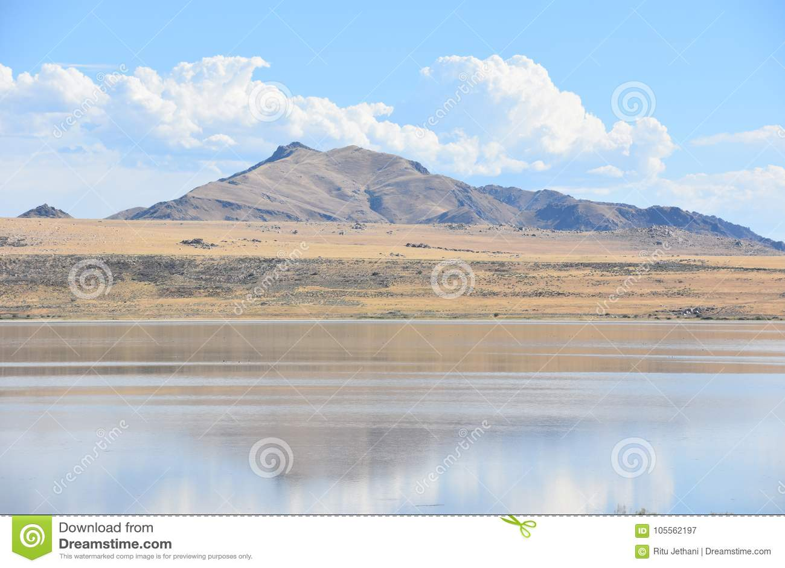 Great Salt Lake In Utah Stock Image Image Of Desert 105562197