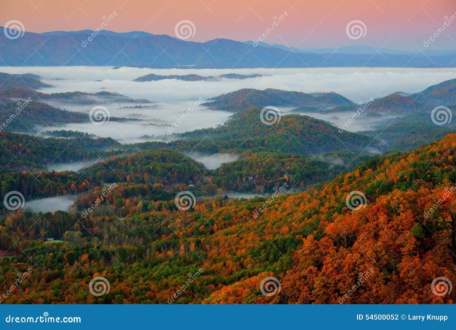 Great Smoky Mountains au lever de soleil