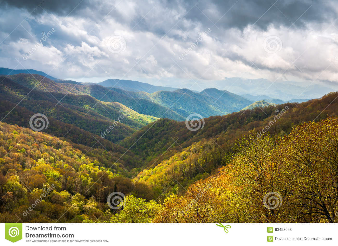 Great Smoky Mountains Outdoors Sceniczna Krajobrazowa fotografia Cher