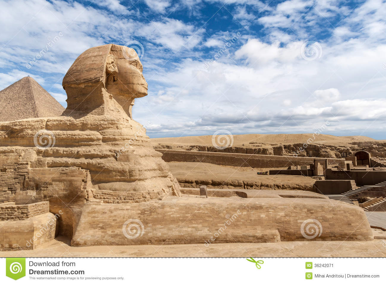 The Great Sphinx of Giza stock image. Image of monument ...