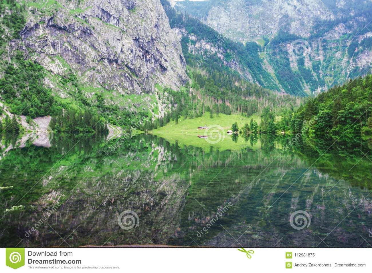 Great summer panorama of the Obersee lake. Green morning scene of Swiss Alps, Nafels village location, Switzerland, Europe. Beauty