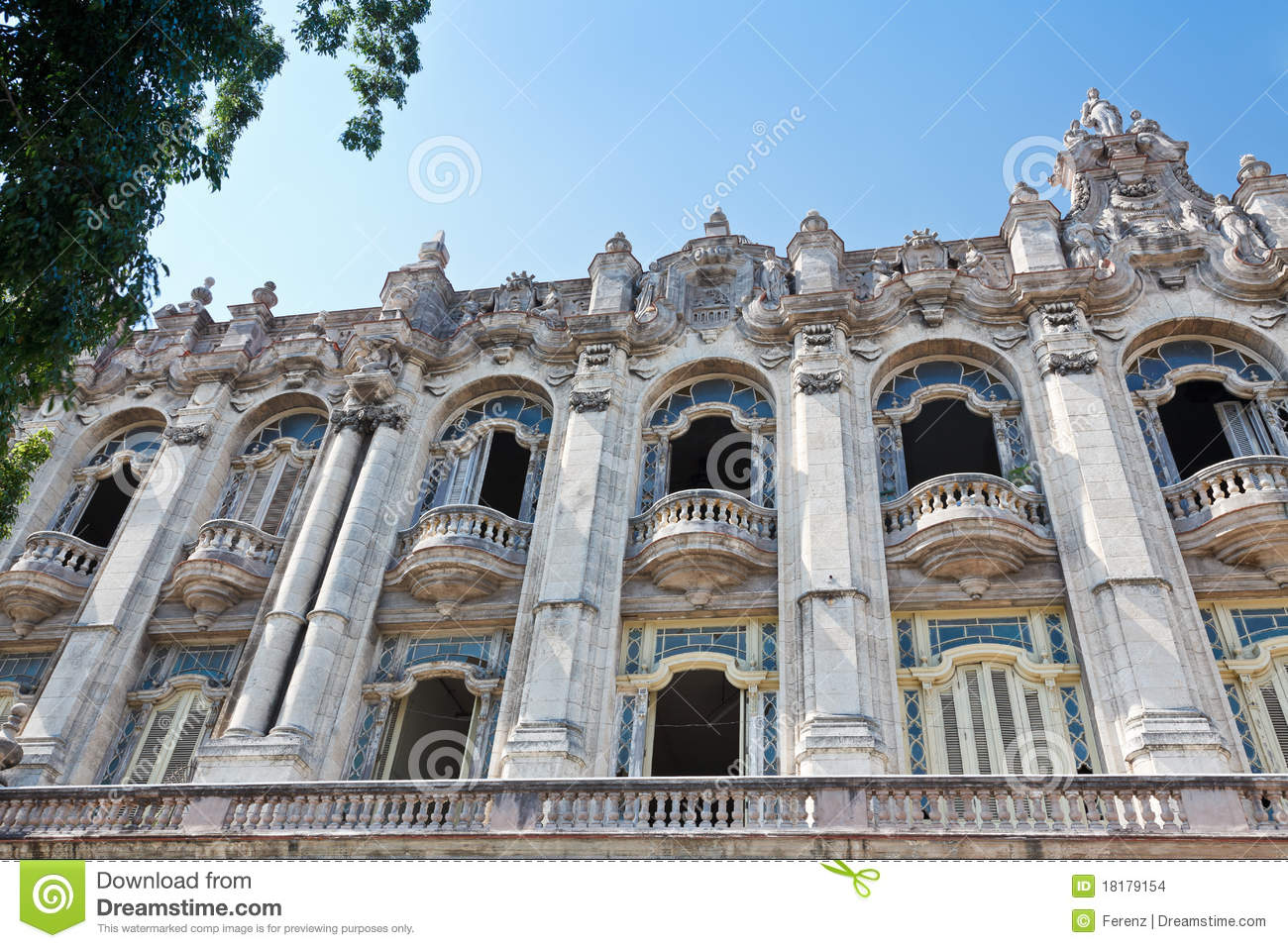 Great Theatre Of Havana Stock Images - Image: 18179154