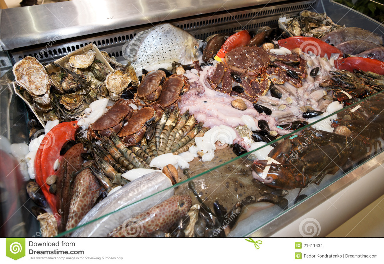 Great variety of fish and seafood stock images image for Fish and seafood
