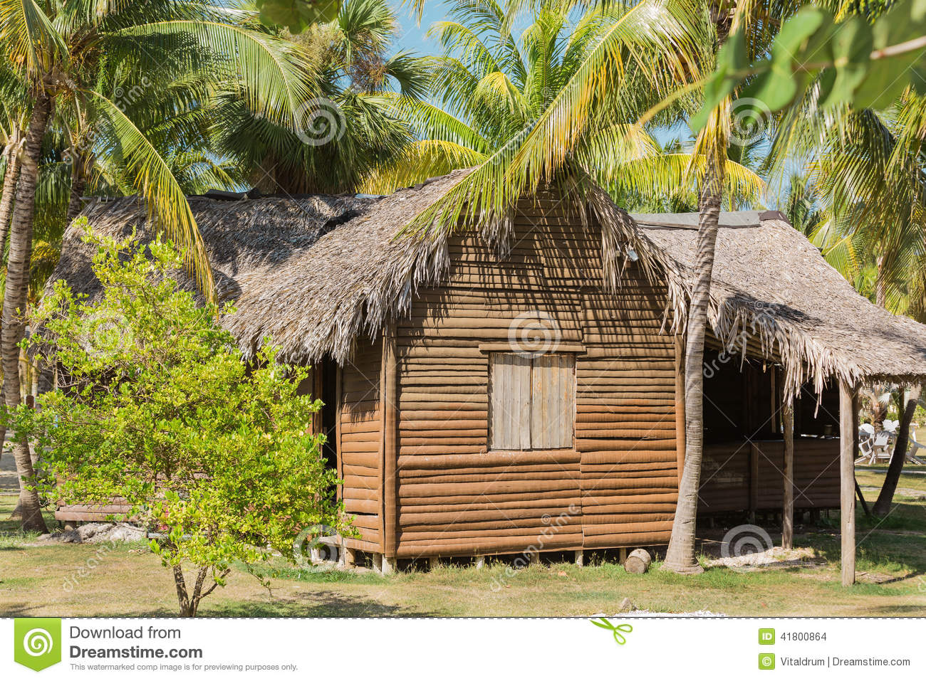 Great view of abandoned old house in tropical garden stock photo image 41800864 - Wooden vacation houses nature style ...