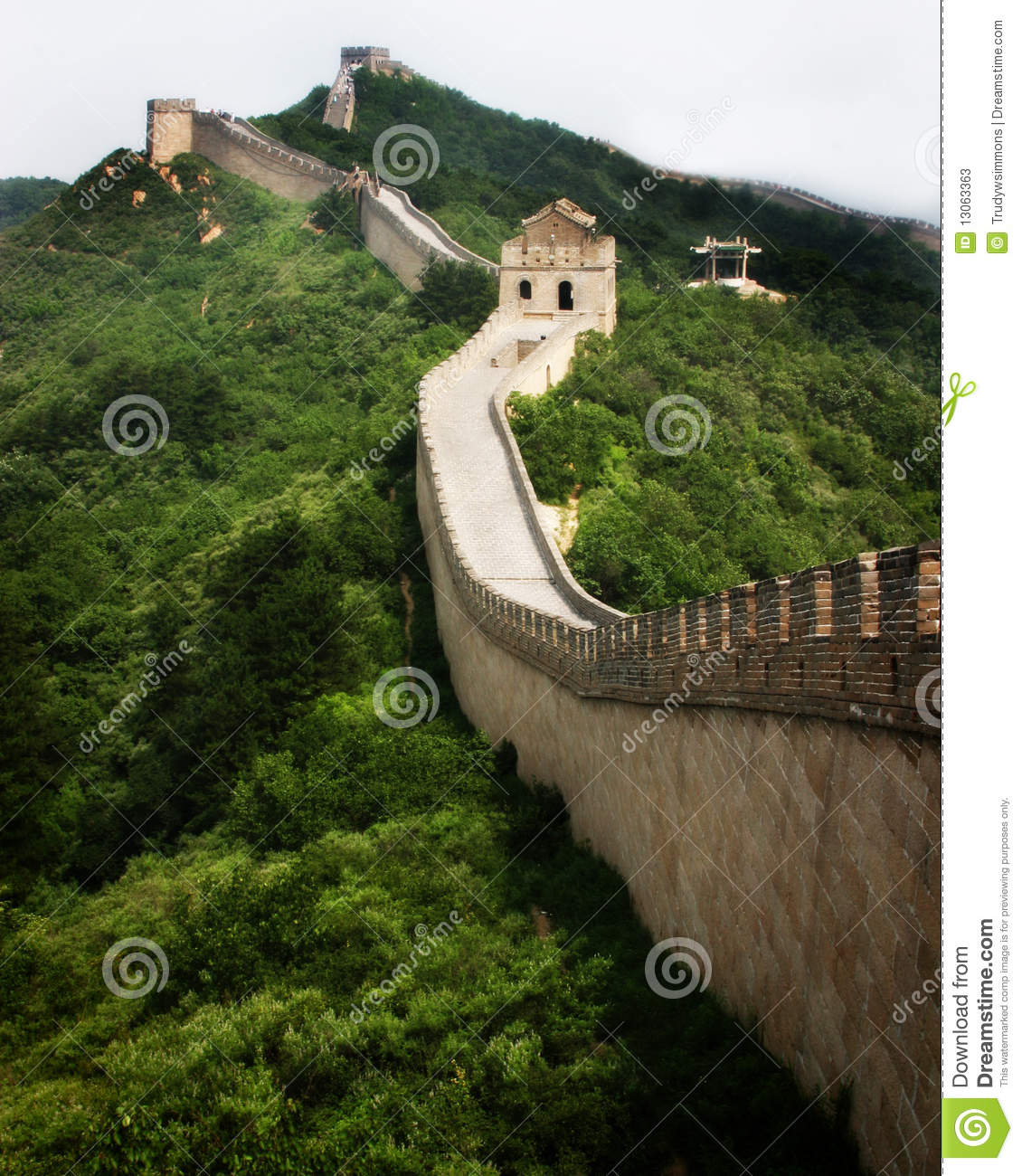 Download Great Wall of China stock image. Image of invaders, great - 13063363