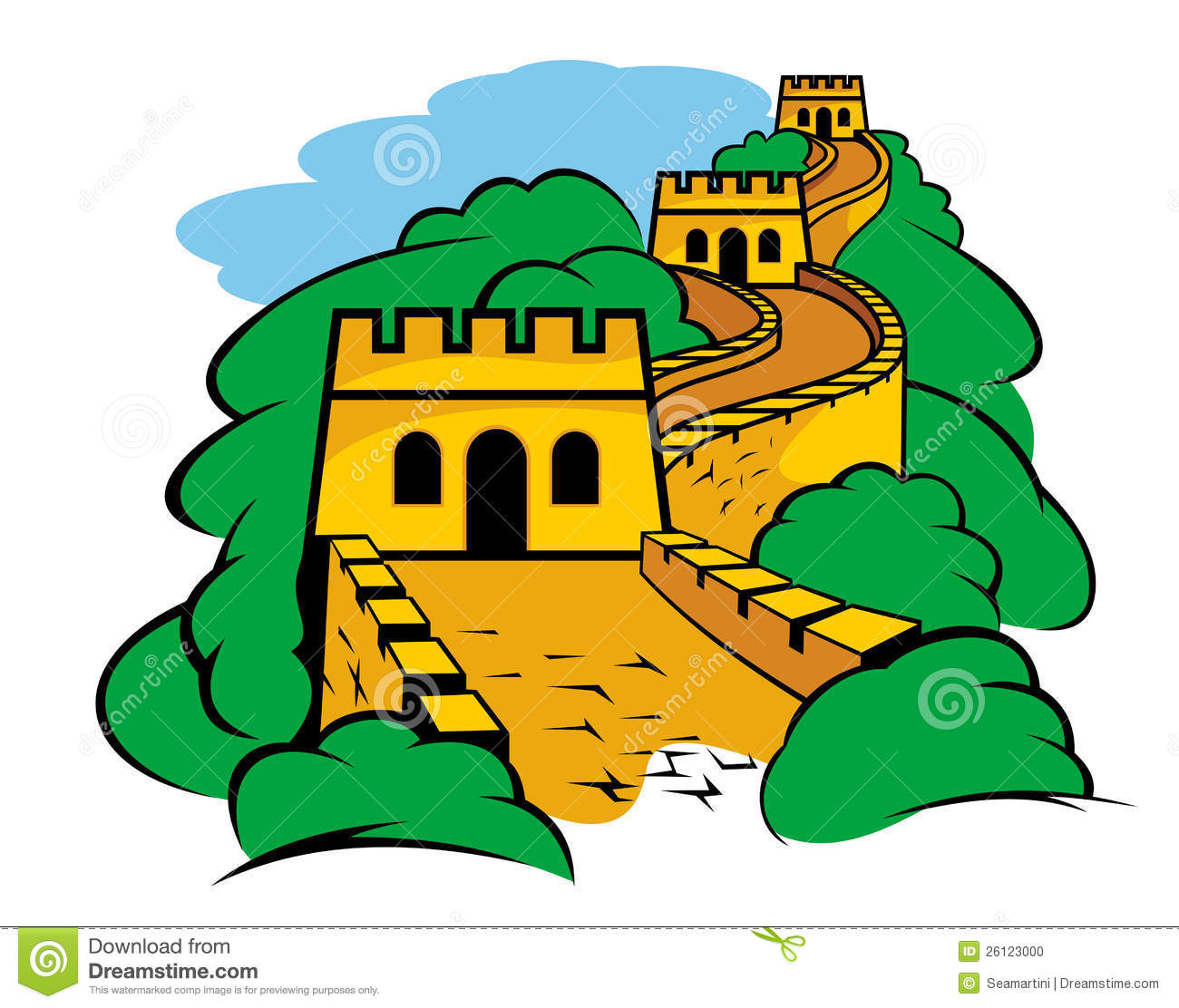 Great Wall In China Stock Photo - Image: 26123000