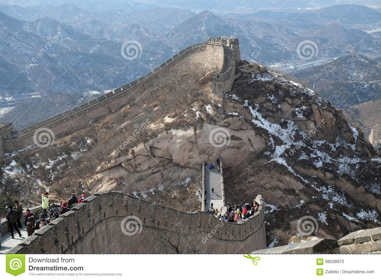 Download The Great Wall Of China In Badaling China Editorial Image Image Of Greatwall