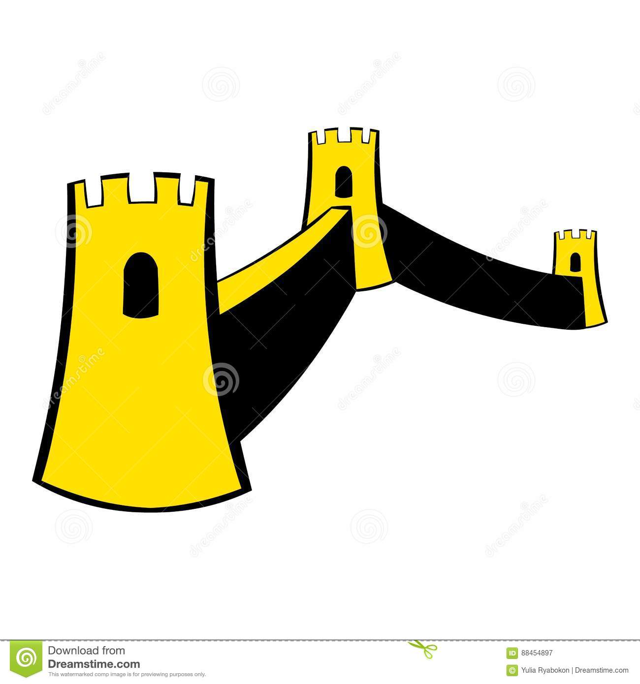 great wall of china icon cartoon stock vector illustration of rh dreamstime com  great wall of china clipart