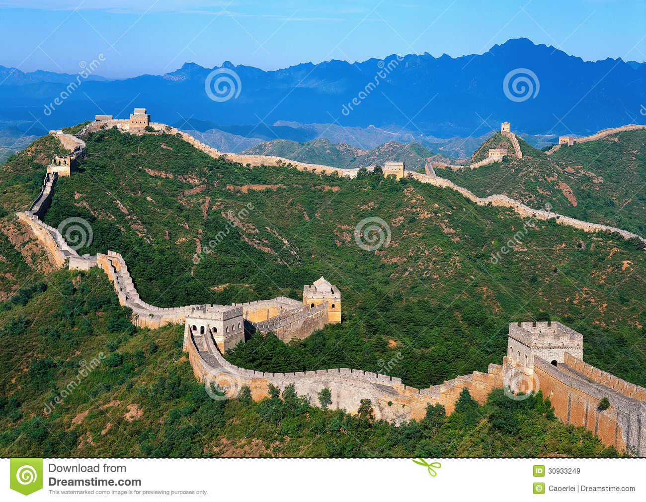 Great wall of china stock image image of architecture for A grande muralha da china