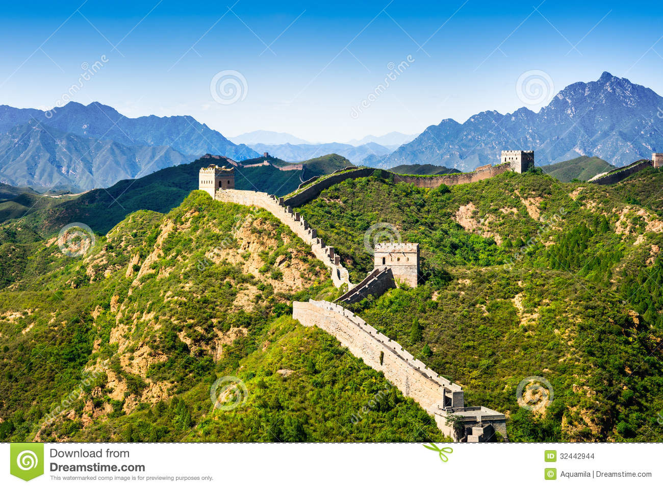 Attractive Great Wall Of China Art Vignette - The Wall Art ...