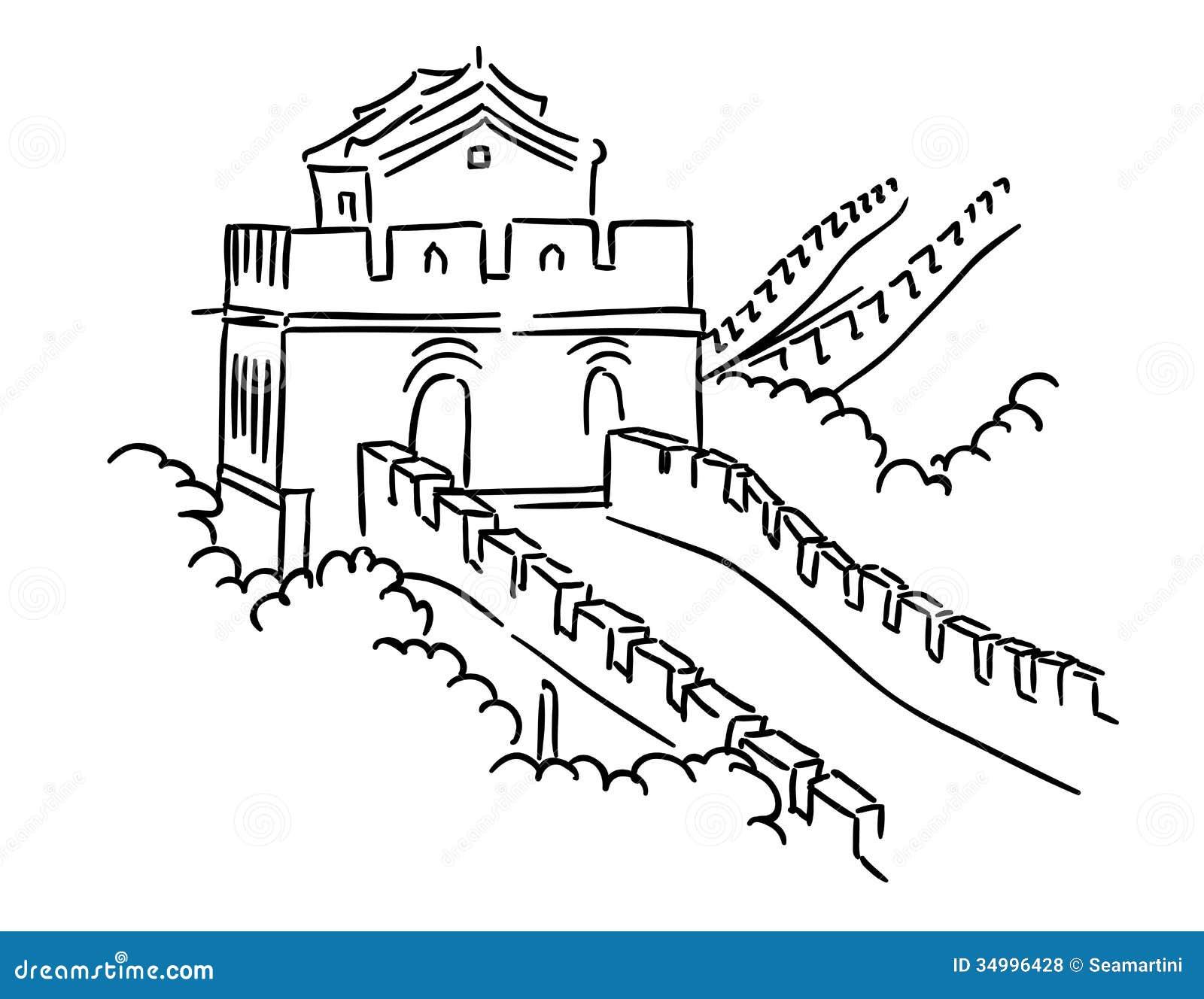 Great Wall Of China Coloring Sheets Coloring Pages Great Wall Of China Coloring Page