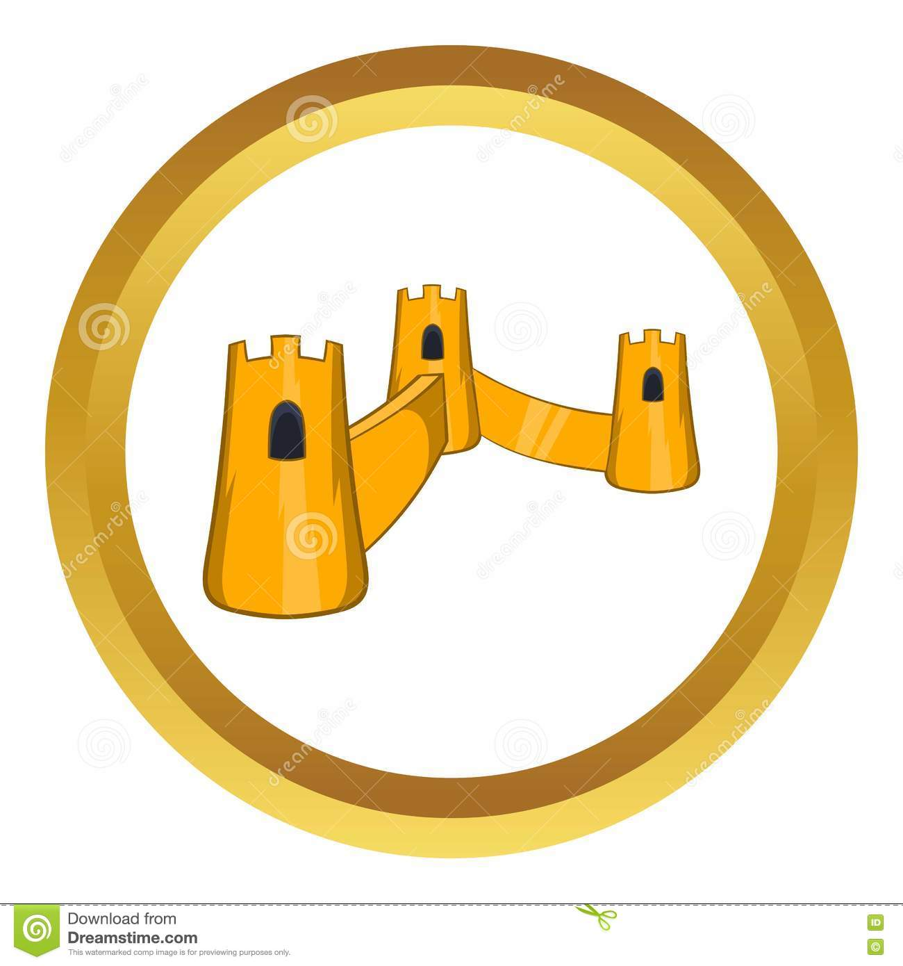Great Wall Of China Vector Icon Stock Vector - Illustration of fort ...