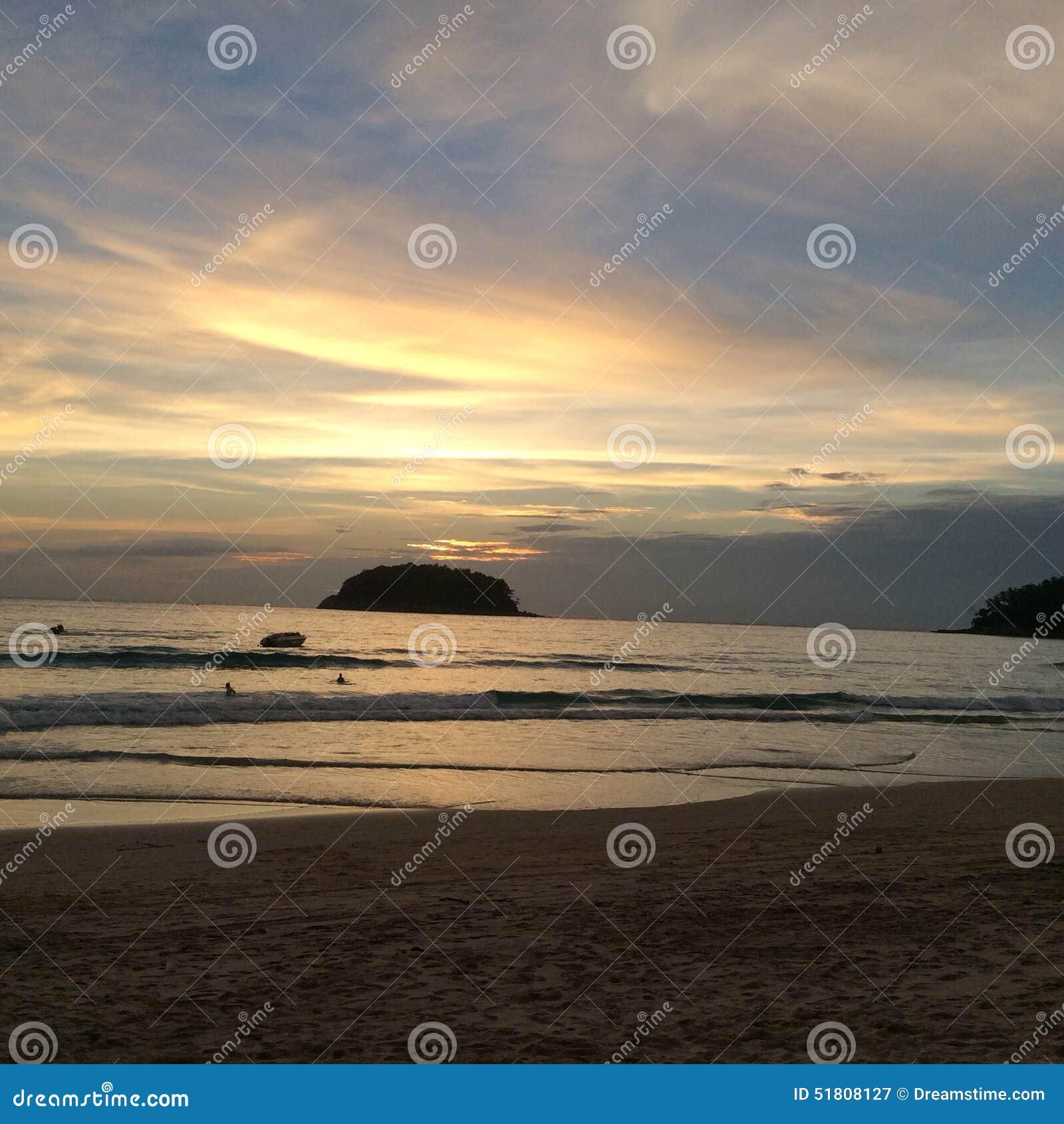 Island Beach People: The Greatest Sunset Stock Image. Image Of Island, Beach