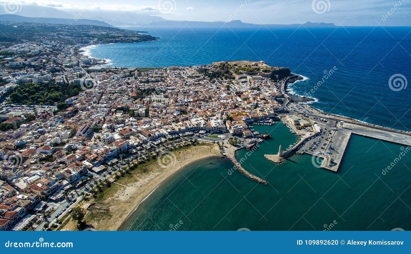 Grecia Isla de Crete Rethymno Faro de la competencia de la fotografía del abejón
