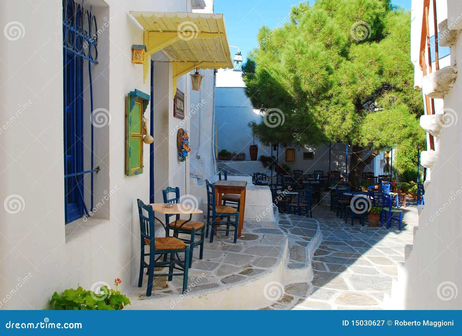 Grecia, isla de Paros, café