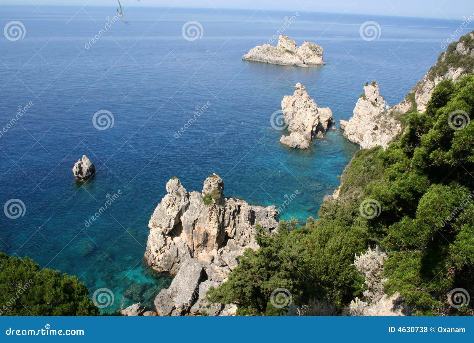 Greece. Corfu, Paleokastrica, costa