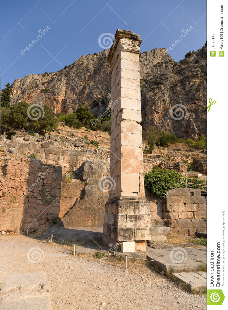 Greece. Delphi. Ancient Ruins Royalty Free Stock Images ...