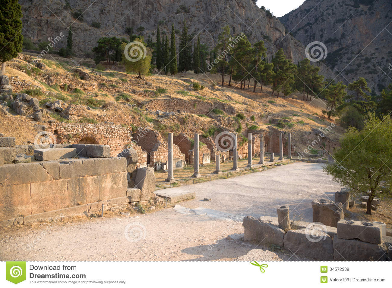 Greece. Delphi. Ruins Royalty Free Stock Images - Image ...