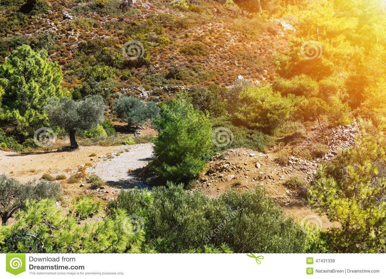 Greece Landscape Stock Photo - Image: 47431339