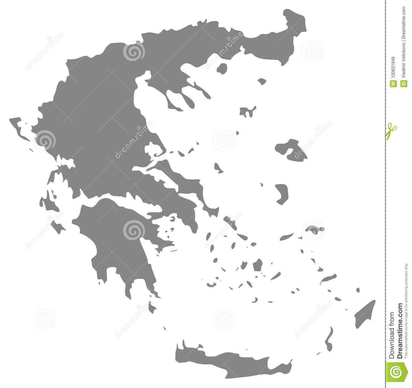 Greece Map Country Located In Southern Europe Stock Vector