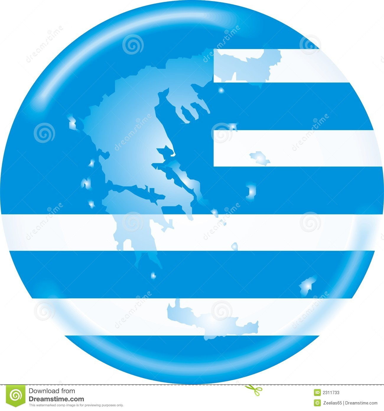 Greece map and flag