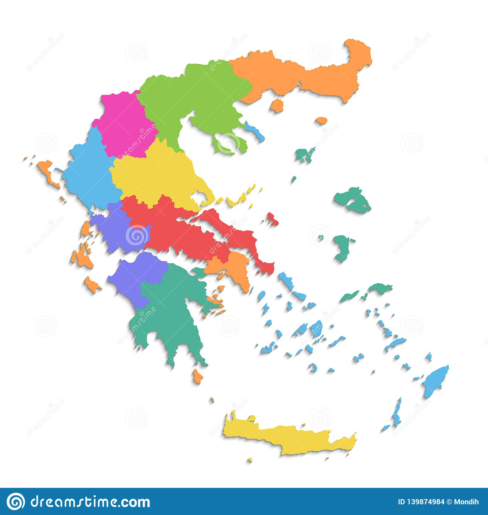 Greece Map New Political Detailed Map Separate Individual Regions