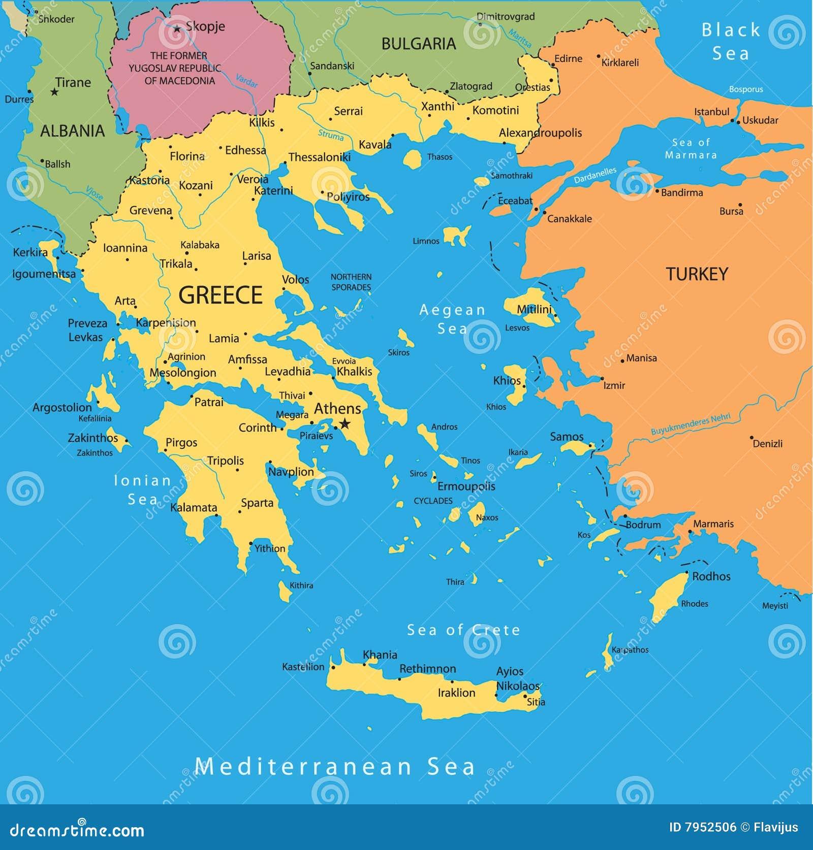Greece mapy wektor