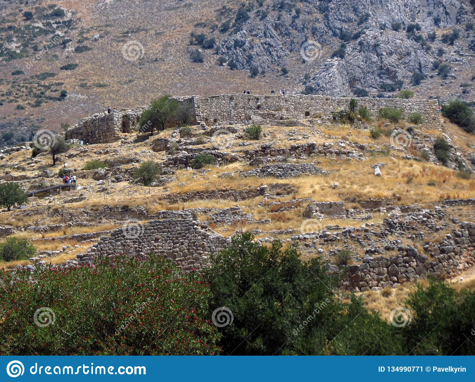 Greece, Mycenae, view of one of the oldest settlements