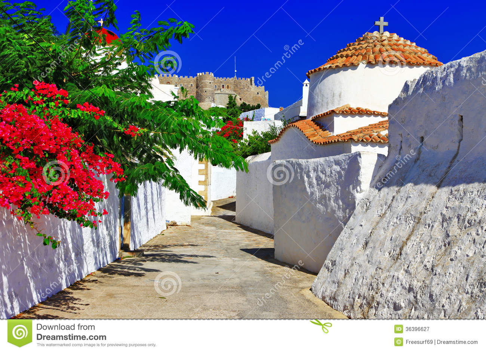 Greece.Patmos νησί.