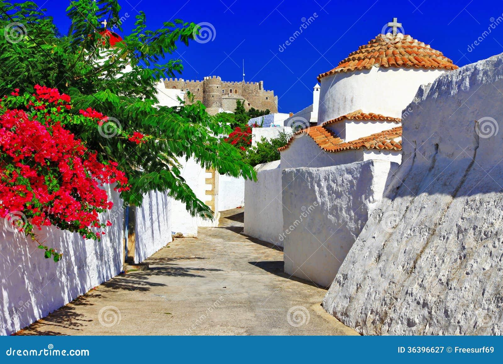 Greece.Patmos island.