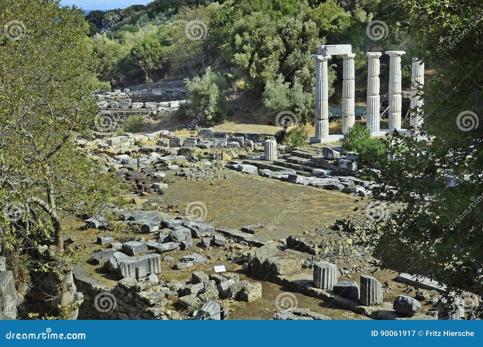 greece samothrace island stock image image of landmark 90061917