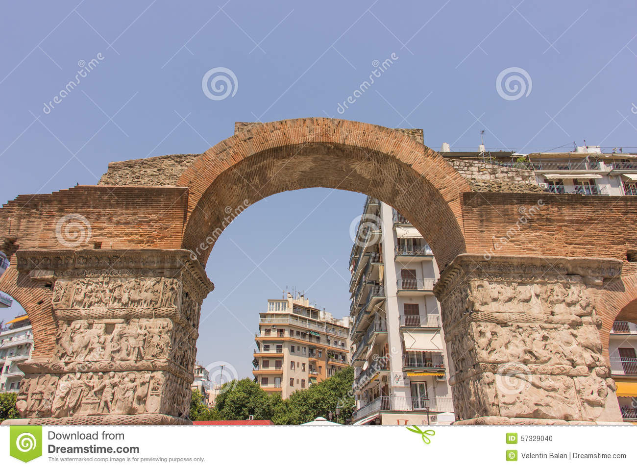 Greece, Thessaloniki, Arch Of Galerius Stock Photo - Image ...