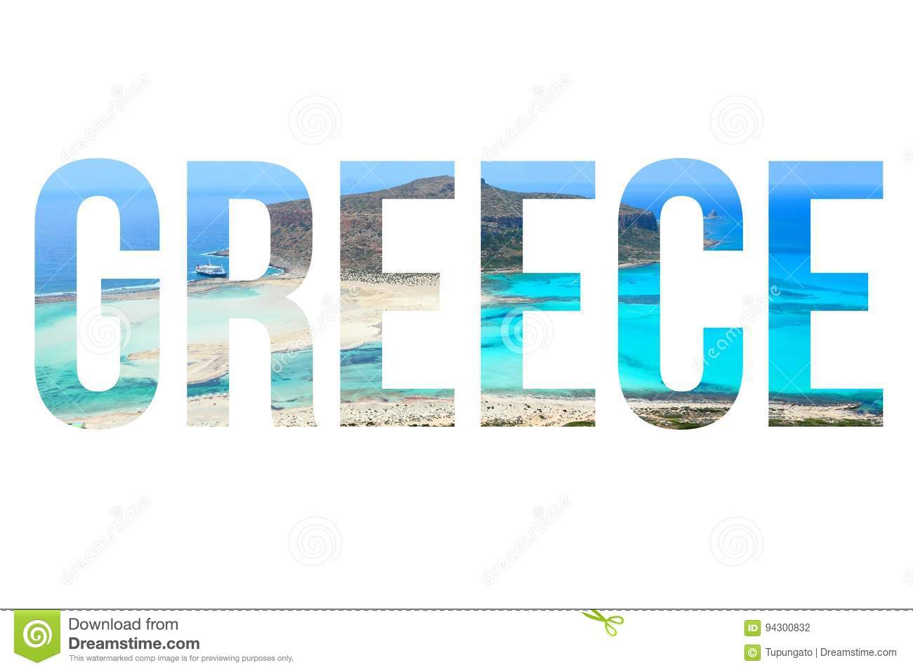 Greece Word Stock Illustration Illustration Of Greeting 94300832