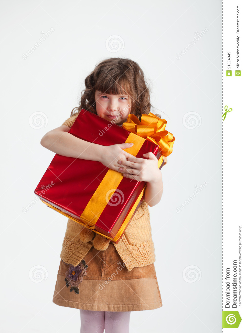 Greedy girl with a gift