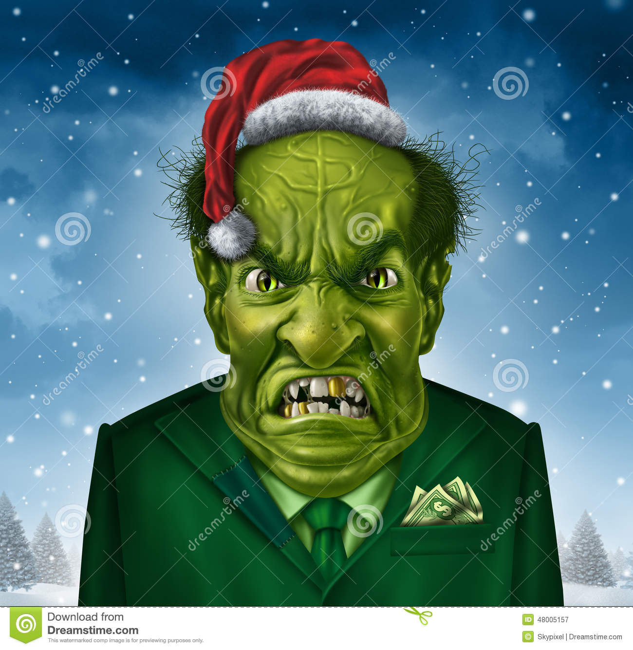 father christmas green suit
