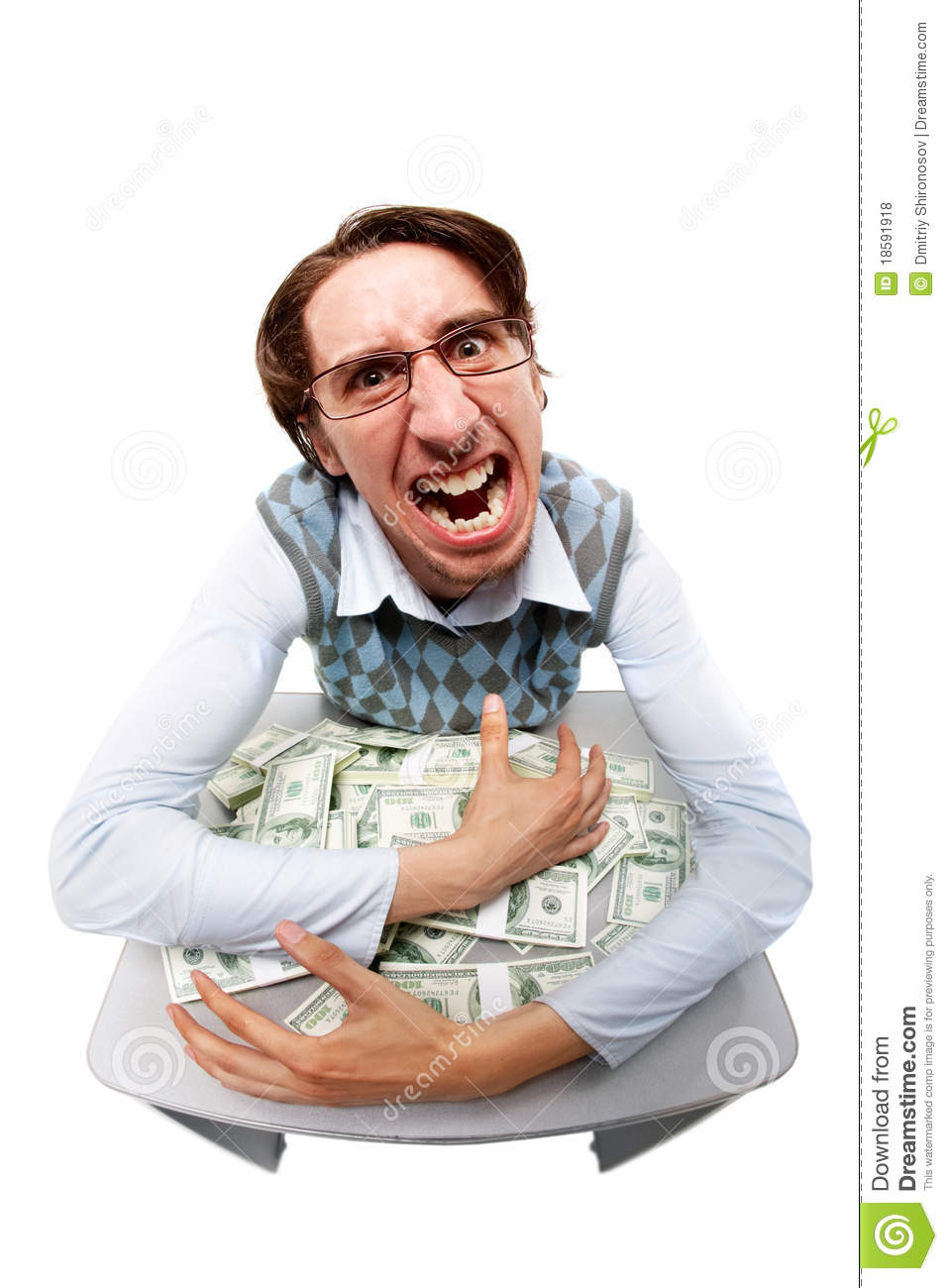 Greedy Man Royalty Free Stock Photos - Image: 18591918