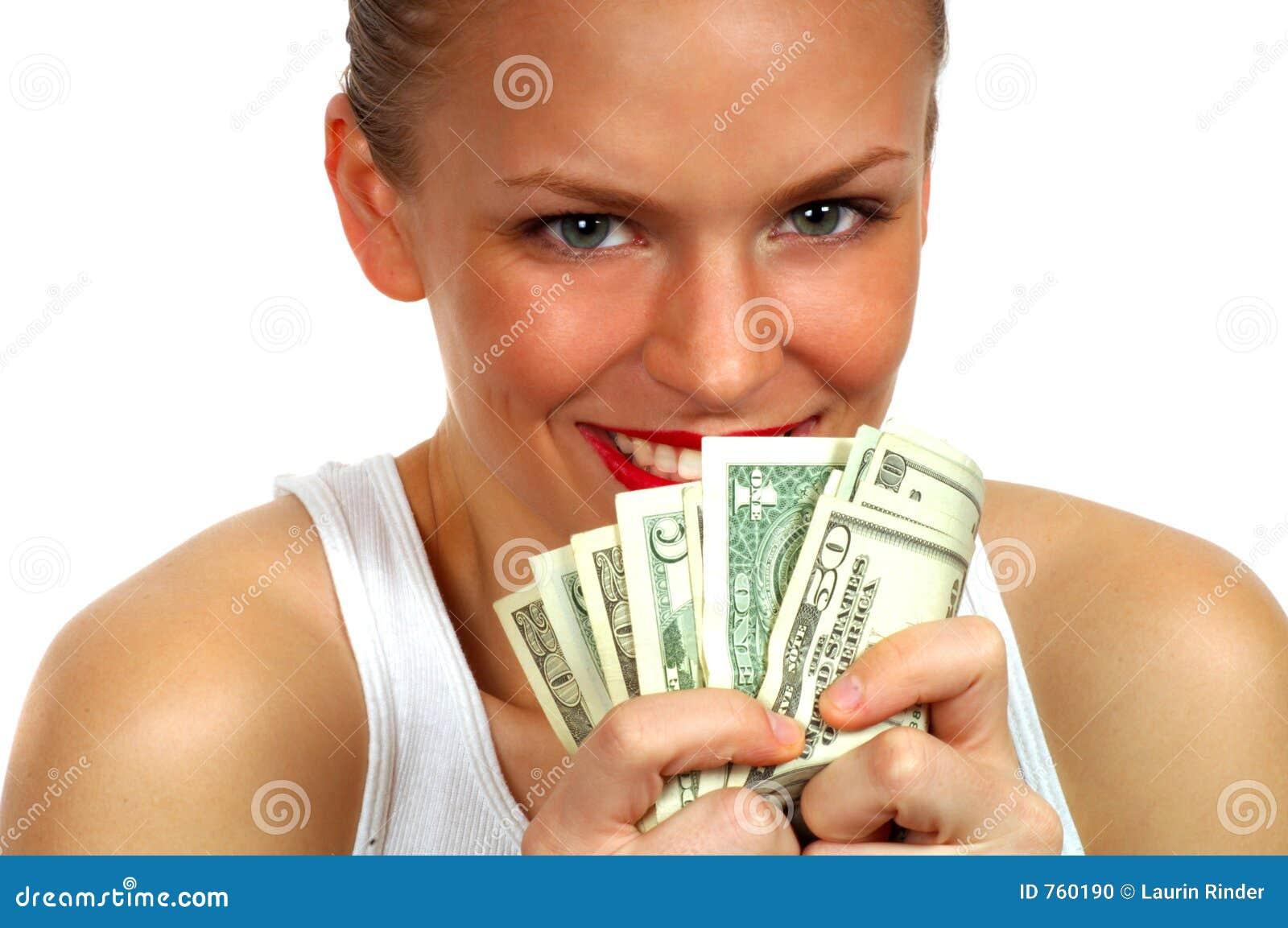 Greedy Woman Stock Pho...