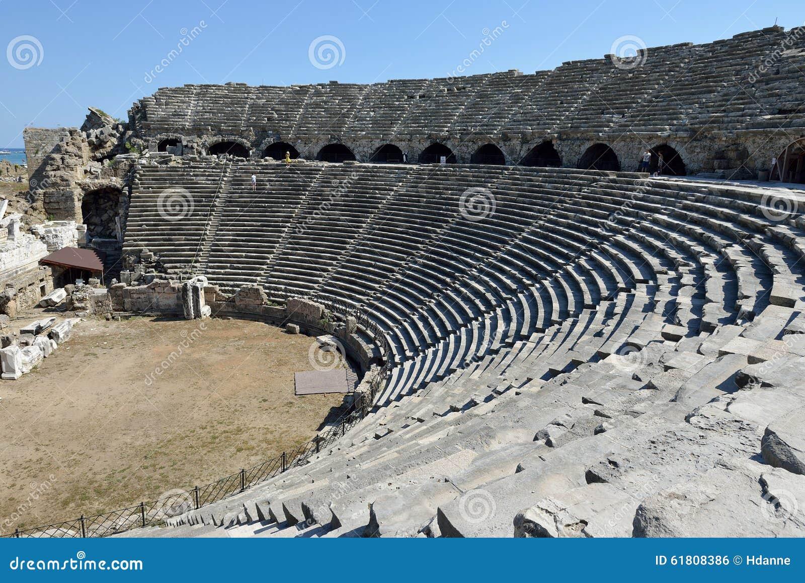 Greek Amphitheater, Side Editorial Photo - Image: 61808386