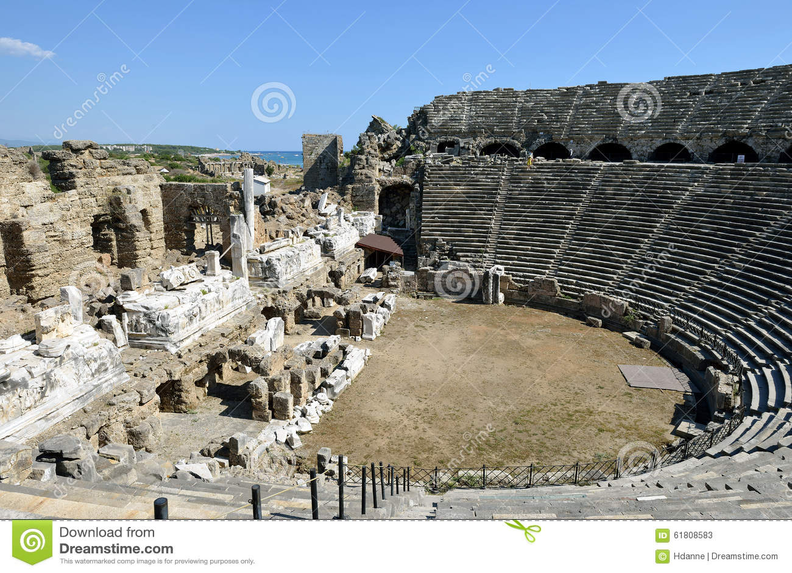 Greek Amphitheater, Side Editorial Stock Photo - Image ...