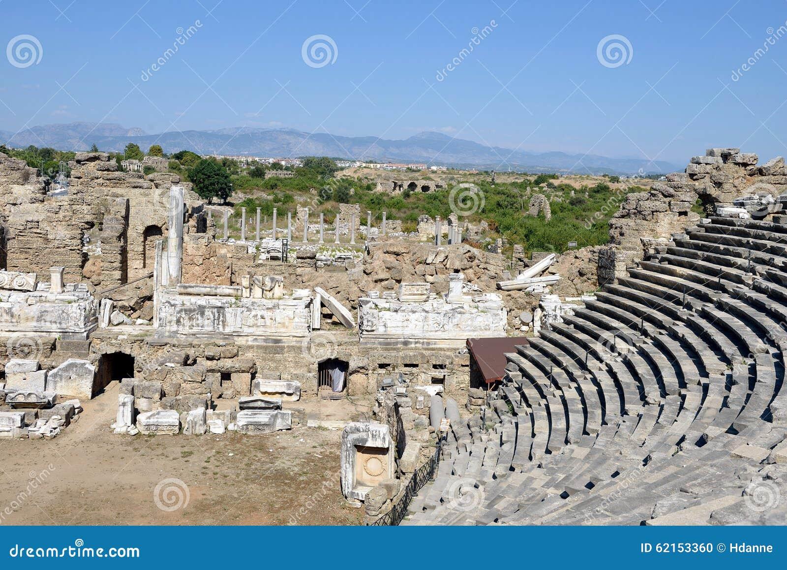 Greek Amphitheater, Side Stock Photo - Image: 62153360