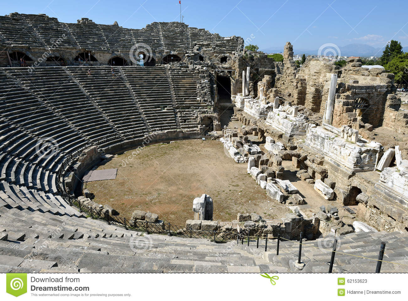 Greek Amphitheater, Side Editorial Stock Photo - Image ...