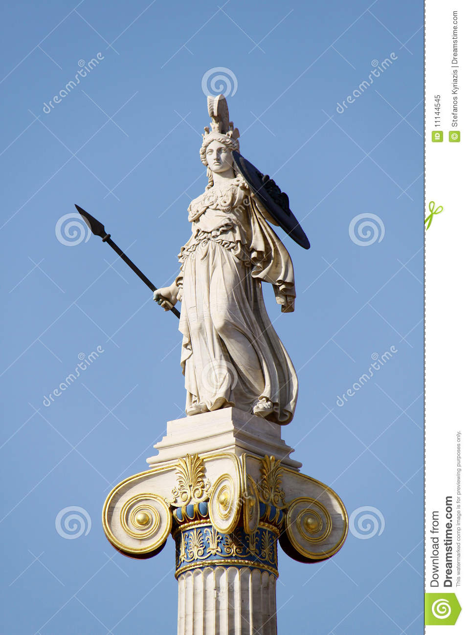 greek ancient goddess athena royalty free stock photo