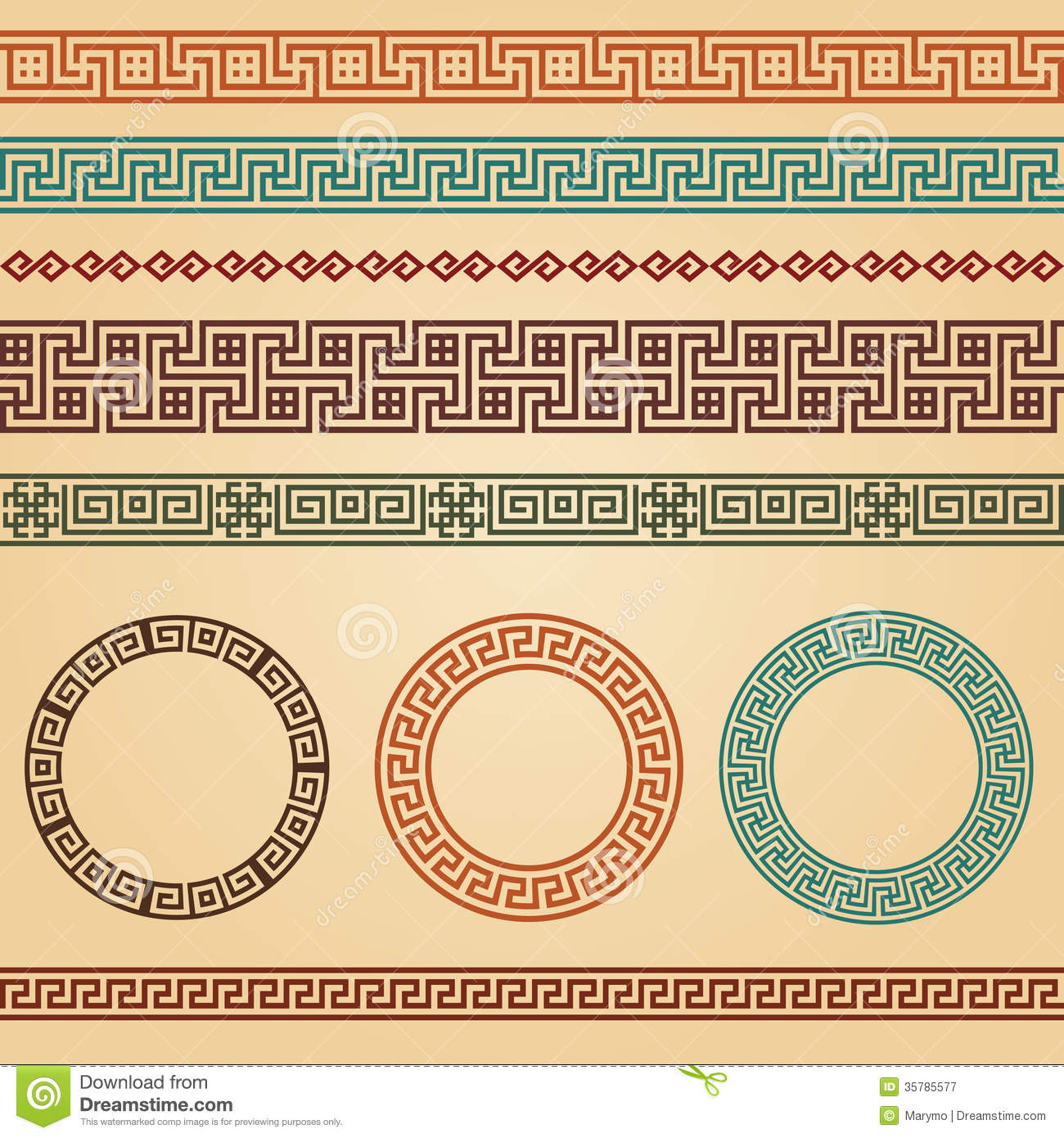 Greek borders decoration elements royalty free stock for Decoration elements
