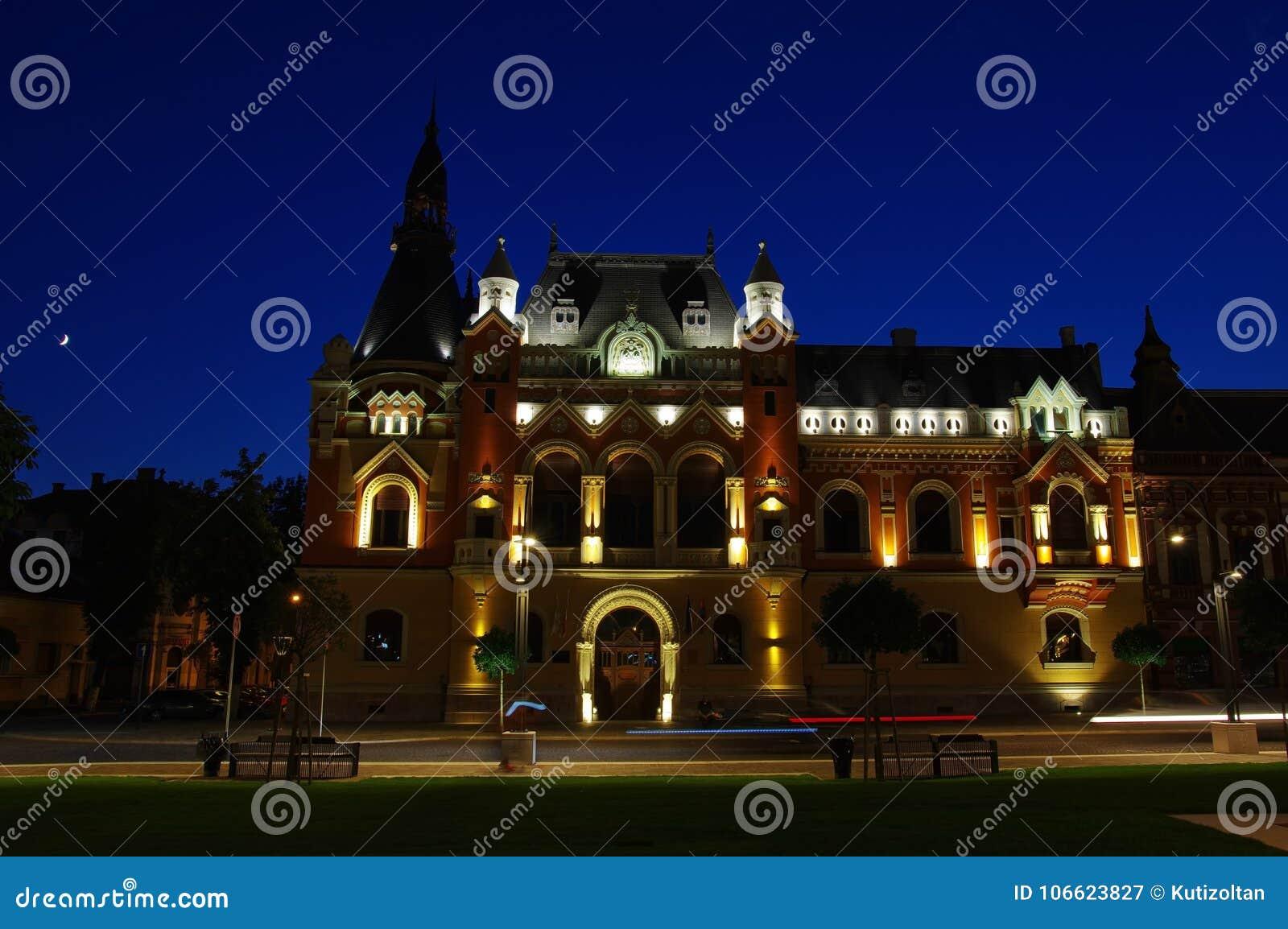 The Greek Catholic bishopric palace in Oradea, Romania