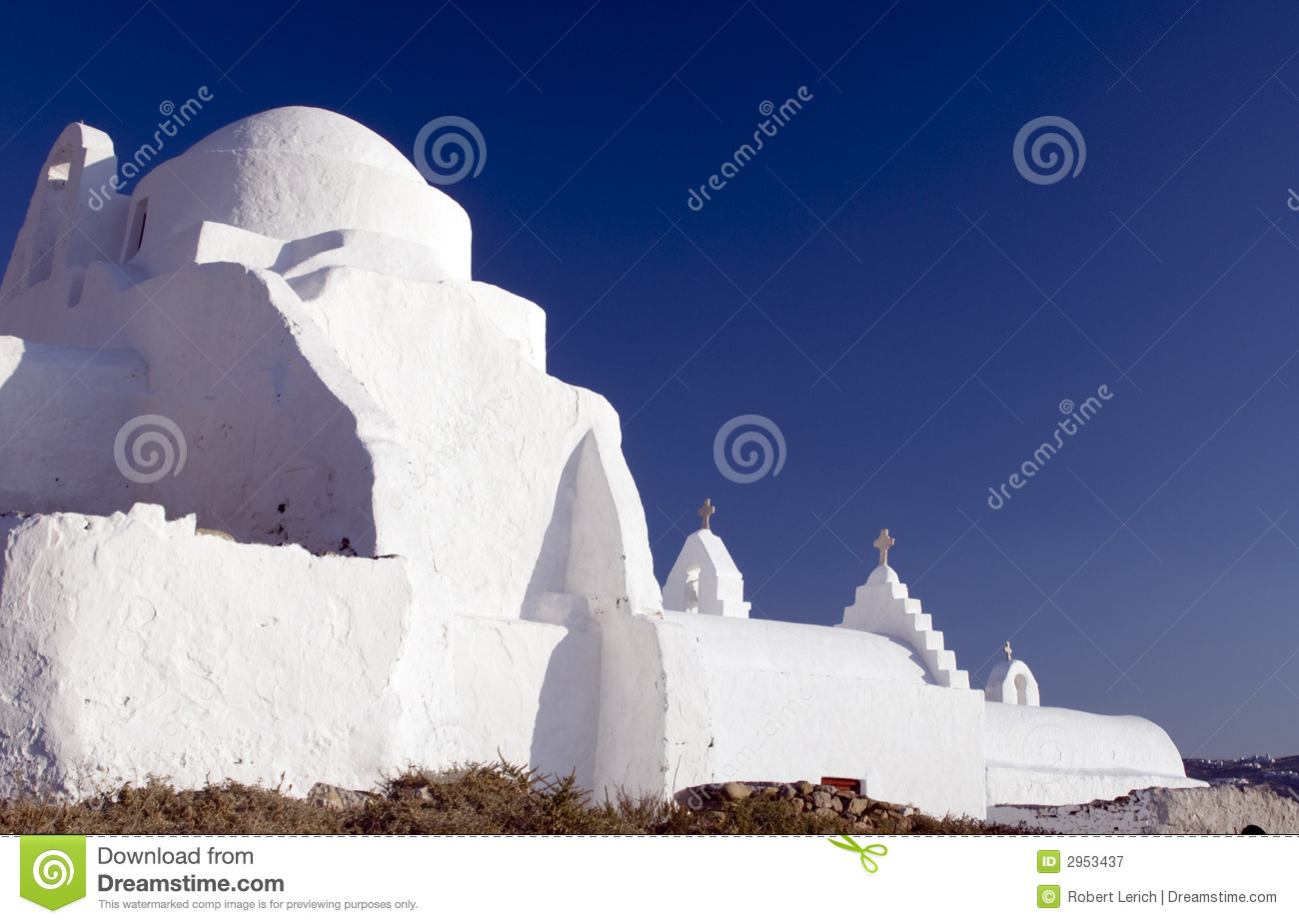 Classic Greek Church Royalty Free Stock Photo