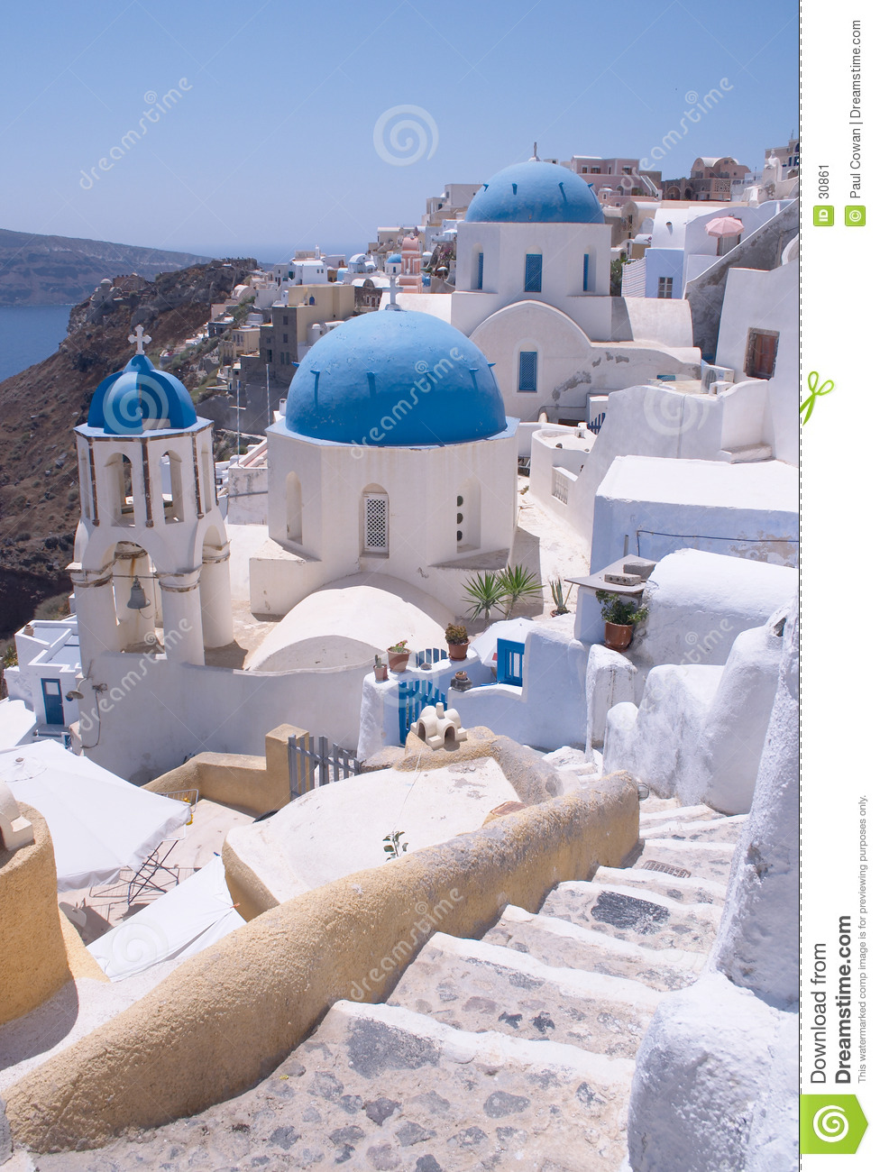 Greek churches with steps
