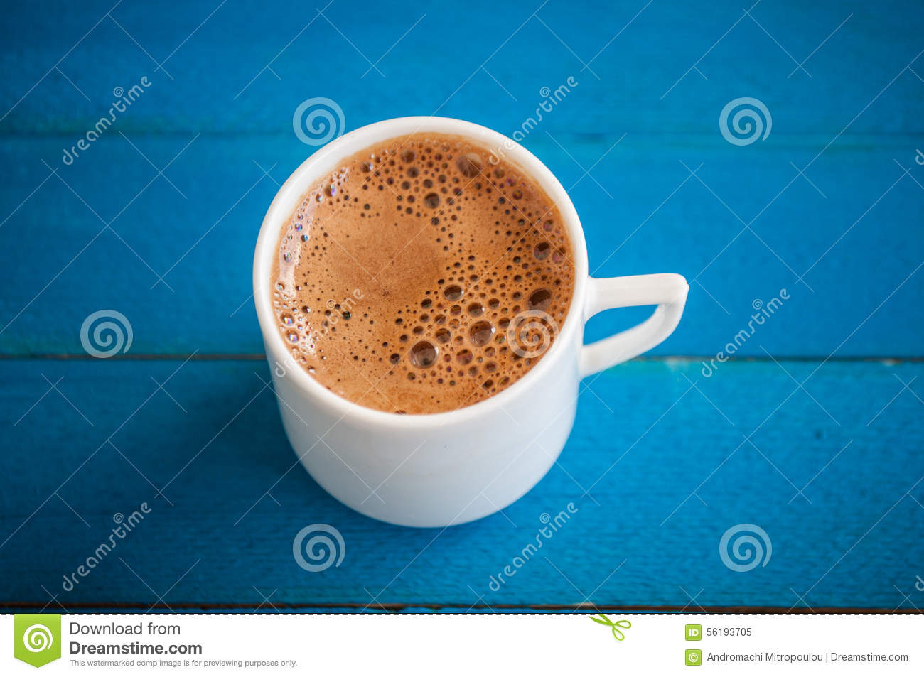 Greek coffee on a blue table stock image image 56193705 greek coffee on a blue table geotapseo Gallery