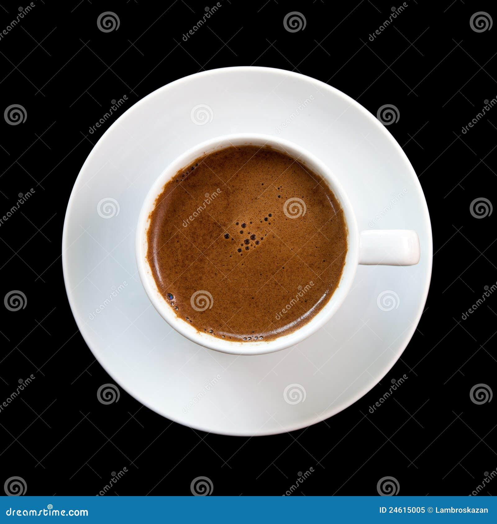 Greek Coffee Isolated On Black Background Stock Image